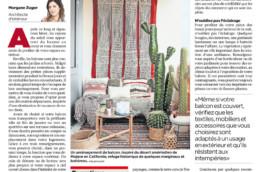 Publication dans le 24Heures Balcon dépaysant Atelier Zuger