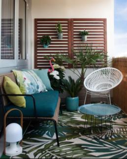 Décoration d'un balcon par Atelier Züger
